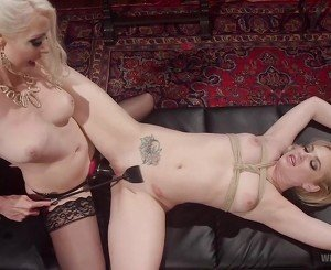 Lesbian fuck doll bound, spanked