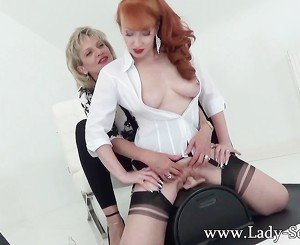 MILFs Lady Sonia and Red XXX in hot